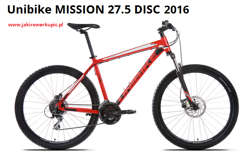 unibike mission 27.5 disc 2016